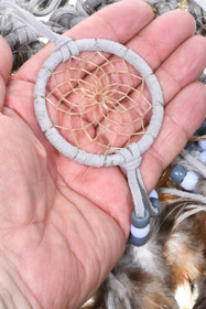 Navajo Handmade Gray Dreamcatcher Ornament 33652