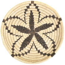 Star Flower Pattern Papago Indian Tray Basket 33661