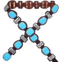 Sky Blue Turquoise Concho Belt 33662