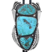 Old Pawn Turquoise Bolo Tie 33663
