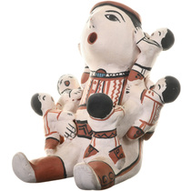 Vintage Cochiti Storyteller Pottery Art 33669