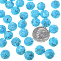 Round Sleeping Beauty Turquoise Cabochons 33424
