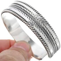 Navajo Silver Twist Wire Cuff 33676