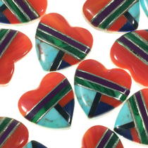 Southwest Heart Cabochons 33425