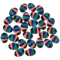 Geometric Inlay Mixed Gemstone Cabs 33429