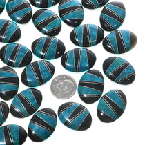 Turquoise Mosaic Inlay Cabochons 33431