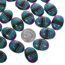 Turquoise Mosaic Inlay Cabochons 33430