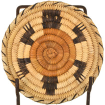 Vintage Papago Tribe Turtle Basket 33696