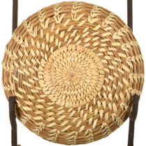 Authentic 1970s Tohono O'Odham Spiral Split Stitch Basket 33698