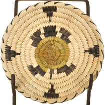 Vintage Papago Indian Turtle Basket 33699