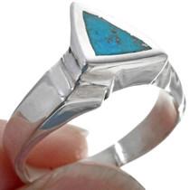 Kingman Turquoise Silver Ring 33809