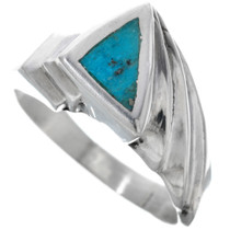 Navajo Sterling Silver Turquoise Ring 33809