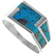 Navajo Turquoise Inlay Silver Ring 33811