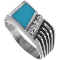 Kingman Turquoise Signet Ring 33812