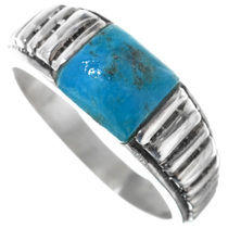 Mens Silver Navajo Turquoise Ring 33813