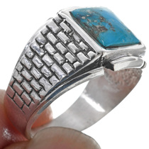 Sterling Silver Adobe Turquoise Ring 33816