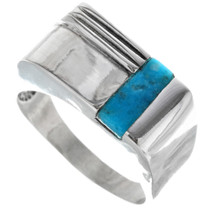 Turquoise Sterling Silver Mens Ring 33817