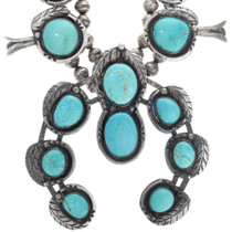 Natural Sleeping Beauty Turquoise Squash Blossom 33821
