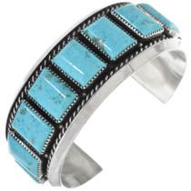 Vintage Navajo Turquoise Silver Bracelet 33823