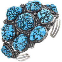 Old Pawn Natural Turquoise Cuff Bracelet 33829