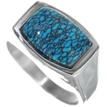 Spiderweb Turquoise Ring 33835