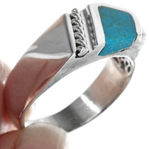 Southwestern Turquoise Mens Ring 33843