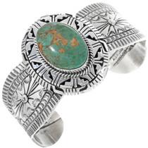 Green Turquoise Navajo Cuff Bracelet 33844