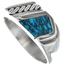 Navajo Spiderweb Sterling Silver Signet Ring 33846