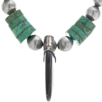 Green Turquoise Santo Domingo Heishi Necklace 33848