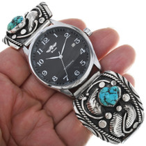 Kingman Turquoise Nuggets Silver Watch Bracelet 33644