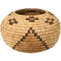 Vintage Rounded Woven Papago Basket 33860