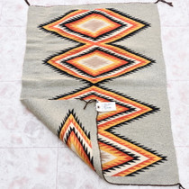 Wool Serrated Diamonds Pattern Navajo Rug 33862