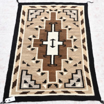 Navajo Two Grey Hills Wool Rug 33863