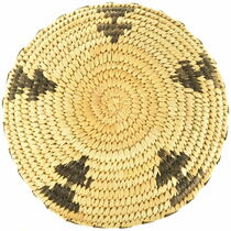 Papago Handmade Shallow Bowl Basket 33870