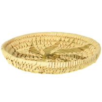 Very Fine Natural Yucca Hand Woven Papago Basket 33871