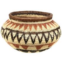 Vintage Polychrome Indian Basket 33873