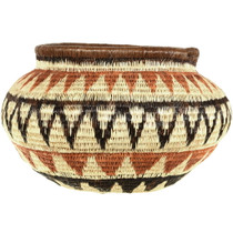 Rain Forest Style Hand Woven Basket 33873