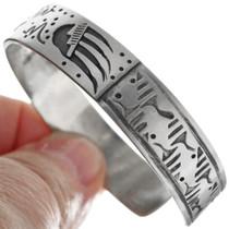Hand Made Navajo Bear Design Bracelet 33357