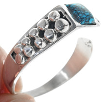 Sterling Silver Drop Pattern Turquoise Ring 33881