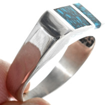 High Shine Sterling Silver Mens Ring 33883