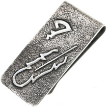 Navajo Silver Feather Money Clip 33891
