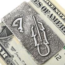 Sterling Silver Navajo Overlay Money Clip 33891