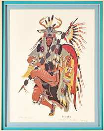 Vintage Indian Deer Dancer Limited Edition Print 33901