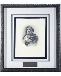Navajo Art Dine Nez Original Framed 33908