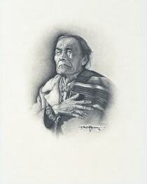 Navajo Woman Original Drawing 33908