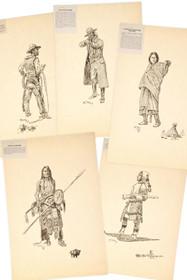 Vintage Charles M Russell Western Prints 33910