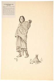 Charles Russell Native American Sketches 33910