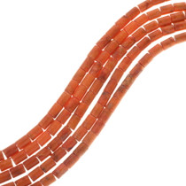 Apple Coral Tube Beads 33438