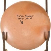 Vintage Hopi Pottery Plate Karen Namoki Signed 33934