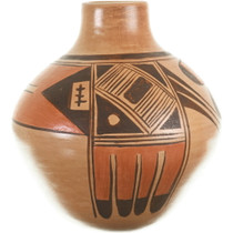 Hand Made Hopi Tribe Pottery Eagle Pattern 33944